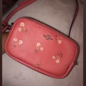 Coach Floral Coral Pink Crossbody 💖